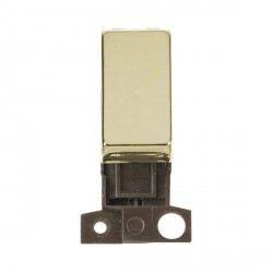 Click Minigrid MD018BR 13A Resistive 10AX DP Ingot Switch Module Brass