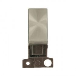Click Minigrid MD018BS 13A Resistive 10AX DP Ingot Switch Module Brushed Steel