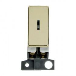 Click Minigrid MD003BR 10AX 2 Way Ingot Keyswitch Module Brass