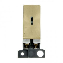 Click Minigrid MD003SB 10AX 2 Way Ingot Keyswitch Module Satin Brass