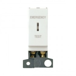 Click Minigrid MD029WH 10AX DP Keyswitch Emergency Test Module White