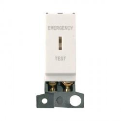 Click Minigrid MD029PW Polar White 10AX DP Keyswitch Emergency Test Module