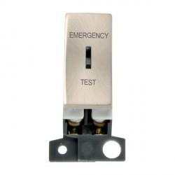 Click Minigrid MD029SC 10AX DP Ingot Keyswitch Emergency Test Module Satin Chrome