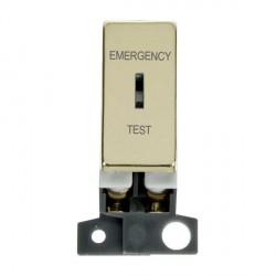 Click Minigrid MD029BR 10AX DP Ingot Keyswitch Emergency Test Module Brass