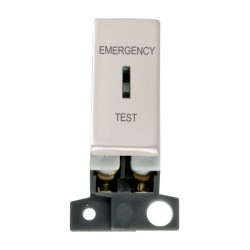 Click Minigrid MD029PN 10AX DP Ingot Keyswitch Emergency Test Module Pearl Nickel