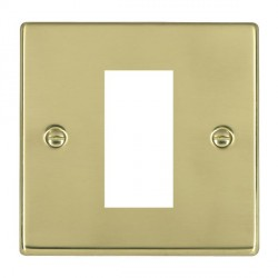 Hamilton Hartland EuroFix Plates Polished Brass Single Plate c/w 1 EuroFix Apertures + Grid