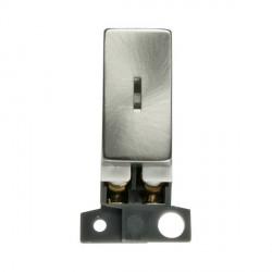 Click Minigrid MD046SC 13A/ 10AX DP Ingot Keyswitch Module Satin Chrome