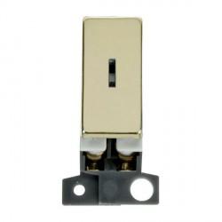 Click Minigrid MD046BR 13A/ 10AX DP Ingot Keyswitch Module Brass