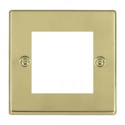 Hamilton Hartland EuroFix Plates Polished Brass Single Plate c/w 2 EuroFix Apertures + Grid