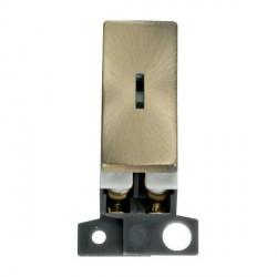 Click Minigrid MD046AB 13A/ 10AX DP Ingot Keyswitch Module Antique Brass