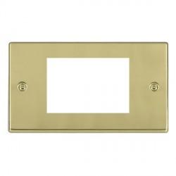 Hamilton Hartland EuroFix Plates Polished Brass Double Plate c/w 3 EuroFix Apertures + Grid