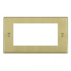 Hamilton Hartland EuroFix Plates Polished Brass Double Plate c/w 4 EuroFix Apertures + Grid