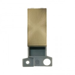 Click Minigrid MD008AB Blank Module Antique Brass