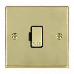 Hamilton Hartland Polished Brass 1 Gang 13A Fuse Only with Black Insert