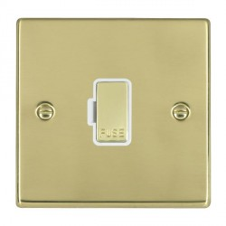 Hamilton Hartland Polished Brass 1 Gang 13A Fuse Only with White Insert