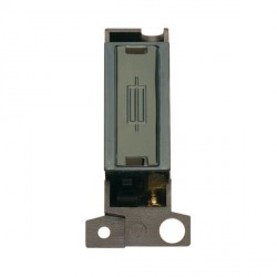 Click Minigrid MD047BKBN 13A Fused Black Nickel 'Ingot' Connection Unit Module Black Insert