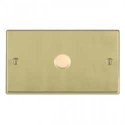 Hamilton Hartland Polished Brass Push On/Off Dimmer 1 Gang 2 way 1000W with Polished Brass Insert
