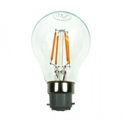 Auraled A-FLM-GL-4-WW-B 4W Warm White LED Filament Bulb - Bayonet Cap