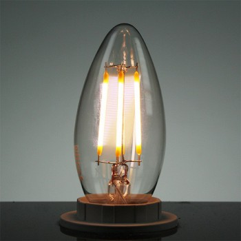 Auraled A-FLM-CL-4-WW-E 4W Warm White LED Filament Candle Lamp - Small Edison Screw