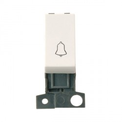 Click Minigrid MD005PW 1 Way Retractive Switch Module Bell Polar White