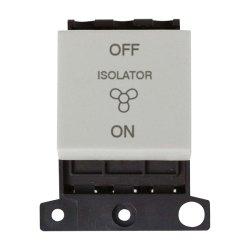 Click Minigrid MD020WH 10A 3 Pole Fan Isolator Switch Module White