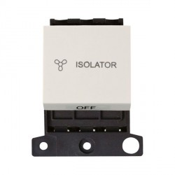 Click Minigrid MD020PW 10A 3 Pole Fan Isolator Switch Module Polar White