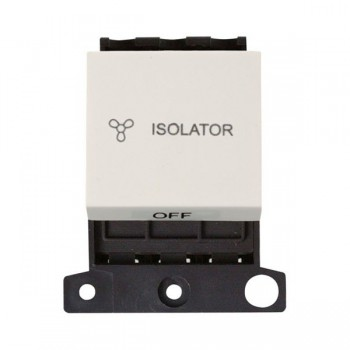 Click Minigrid MD020PW 10A 3 Pole Fan Isolator Switch Module Polar White