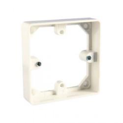 MK Single 20mm White PVC Mounting Frame