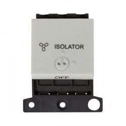 Click Minigrid MD220WH 10A 3 Pole Fan Isolator Switch Module Lockable White