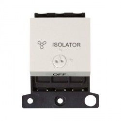 Click Minigrid MD220PW 10A 3 Pole Fan Isolator Switch Module Lockable Polar White