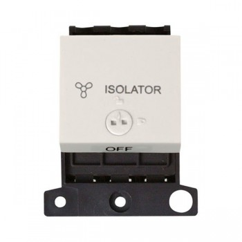 Click Minigrid MD220PW 10A 3 Pole Fan Isolator Switch Module Lockable Polar White