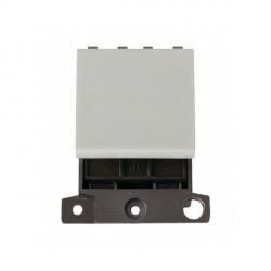 Click Minigrid MD024WH 20A 2 Way Twin Width Blank Switch Module White