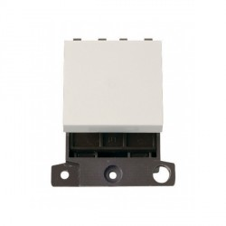 Click Minigrid MD024PW 20A 2 Way Twin Width Blank Switch Module White