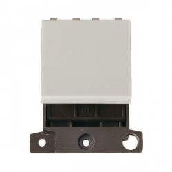 Click Minigrid MD032WH 32A Double Pole Twin Width Blank Switch Module White