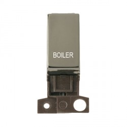 Click Minigrid MD018BNBL 13A Resistive 10AX DP Boiler Switch Module Black Nickel