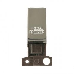 Click Minigrid MD018BNFF 13A Resistive 10AX DP Fridge Freezer Switch Module Black Nickel
