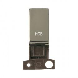 Click Minigrid MD018BNHB 13A Resistive 10AX DP Hob Switch Module Black Nickel