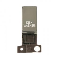 Click Minigrid MD018BNDW 13A Resistive 10AX DP Dishwasher Switch Module Black Nickel