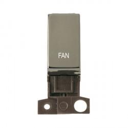 Click Minigrid MD018BNFN 13A Resistive 10AX DP Fan Switch Module Black Nickel