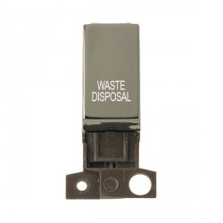 Click Minigrid MD018BNWD 13A Resistive 10AX DP Waste Disposal Switch Module Black Nickel