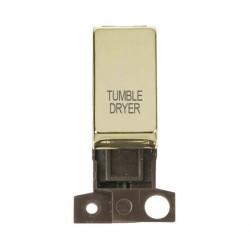 Click Minigrid MD018BRTD 13A Resistive 10AX DP Tumble Dryer Switch Module Brass