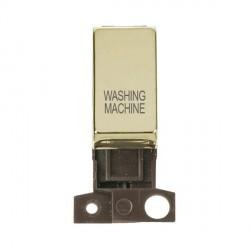 Click Minigrid MD018BRWM 13A Resistive 10AX DP Washing Machine Switch Module Brass