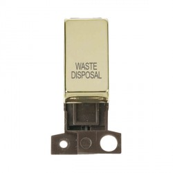 Click Minigrid MD018BRWD 13A Resistive 10AX DP Waste Disposal Switch Module Brass