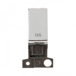 Click Minigrid MD018CHFN 13A Resistive 10AX DP Fan Switch Module Chrome