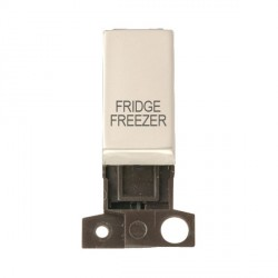 Click Minigrid MD018PNFF 13A Resistive 10AX DP Fridge Freezer Switch Module Pearl Nickel