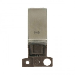 Click Minigrid MD018SSFN 13A Resistive 10AX DP Fan Switch Module Stainless Steel