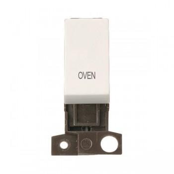 Click Minigrid MD018PWOV 13A Resistive 10AX DP Oven Switch Module Polar White