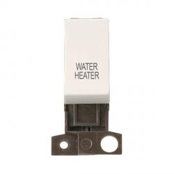 Click Minigrid MD018PWWH 13A Resistive 10AX DP Water Heater Switch Module Polar White