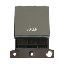 Click Minigrid MD022BNBL 20A DP Twin Width Boiler Switch Module Black Nickel