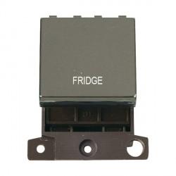 Click Minigrid MD022BNFD 20A DP Twin Width Fridge Switch Module Black Nickel